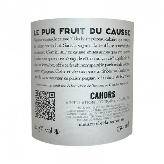 """COMBEL LA SERRE - """"PUR FRUIT DU CAUSSE"""""""